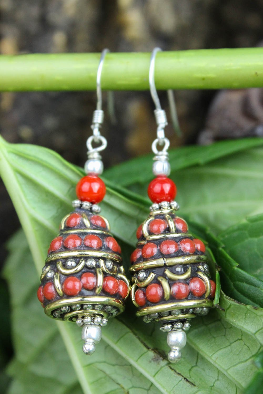 Earrings Passionate and Prosperity Coral Earrings JE464