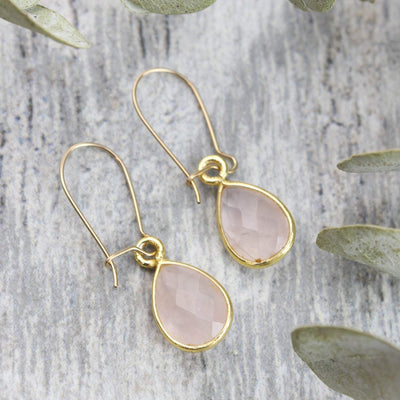 Earrings Rose Quartz Kindness Earrings JE515