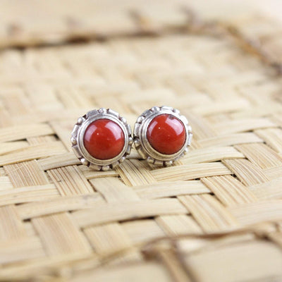 Earrings Simple Antique Coral Earrings JE503