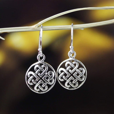 Earrings Sterling Silver Eternal Knot Earrings JE498
