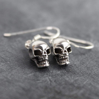 Earrings Sterling Silver Skull Impermanence Earrings JE496