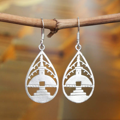 Earrings Sterling Silver Stupa Earrings JE517