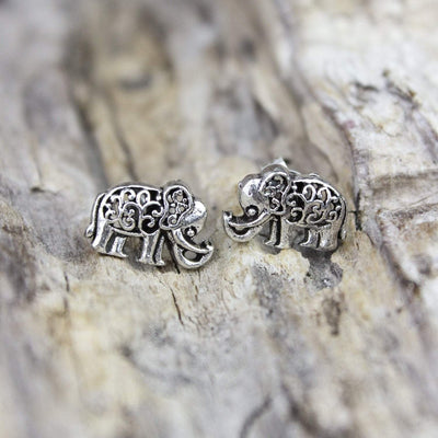 Earrings Stylish Sterling Silver Elephant Earrings JE471