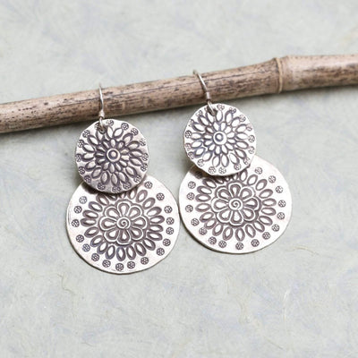 Earrings Thai Silver Floral Earrings JE523