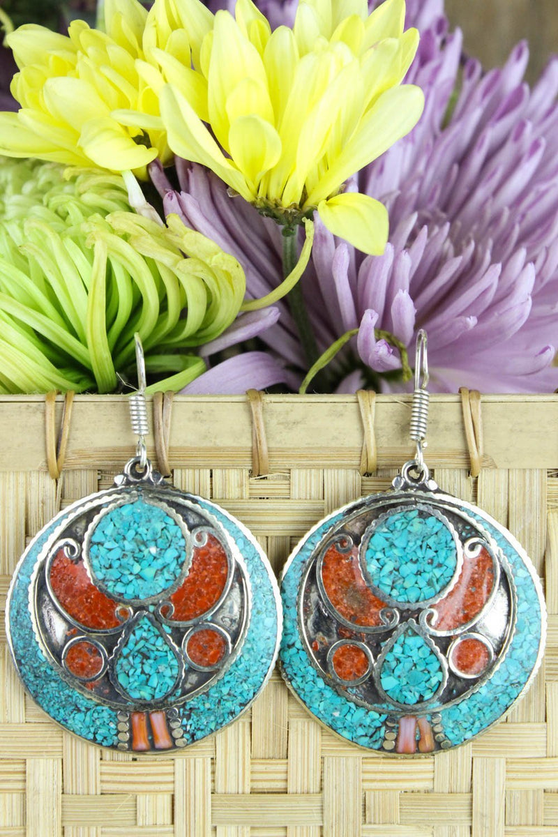Earrings Tranquil Tibetan Design Earrings JE468
