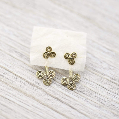 Earrings Triple Spiral Earring JE546