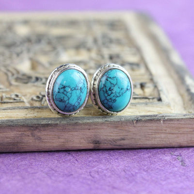 Earrings Turquoise Post Earrings JE502