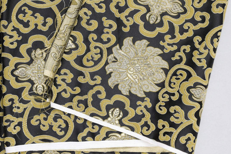 Fabrics Black Lotus Brocade Fabric by the Yard fy005