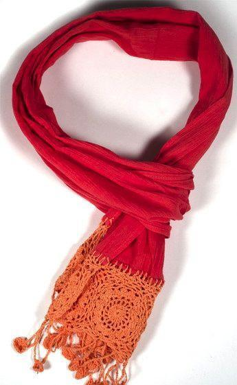 Matr Bomie Fabrics,Gifts,Mother's Day,Scarves Default 100% Cotton Fair Trade Coral Crochet Scarf