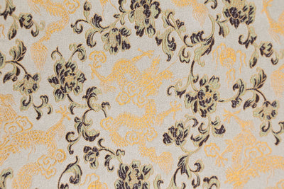 Fabrics Golden Dragon Brocade Fabric by the Yard fy006
