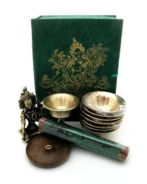 Gifts,Ritual Items,Tibetan Style,Holidays Default Green Tara Travel Altar gb013