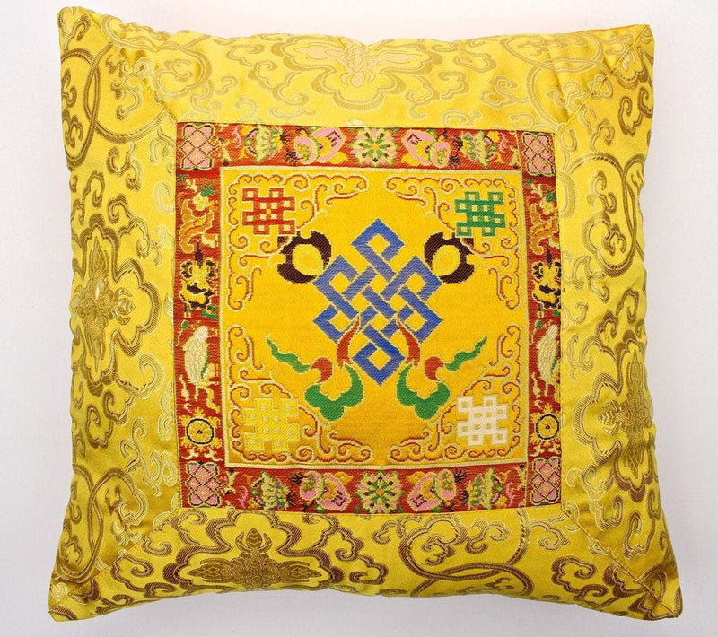 Home Default Gold Eternal Knot Hand Embroidered Pillow home012