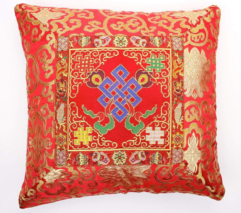 Home Default Red Eternal Knot Hand Embroidered Pillow home011