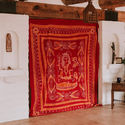 Home Shiva Batik Tapestry FB540