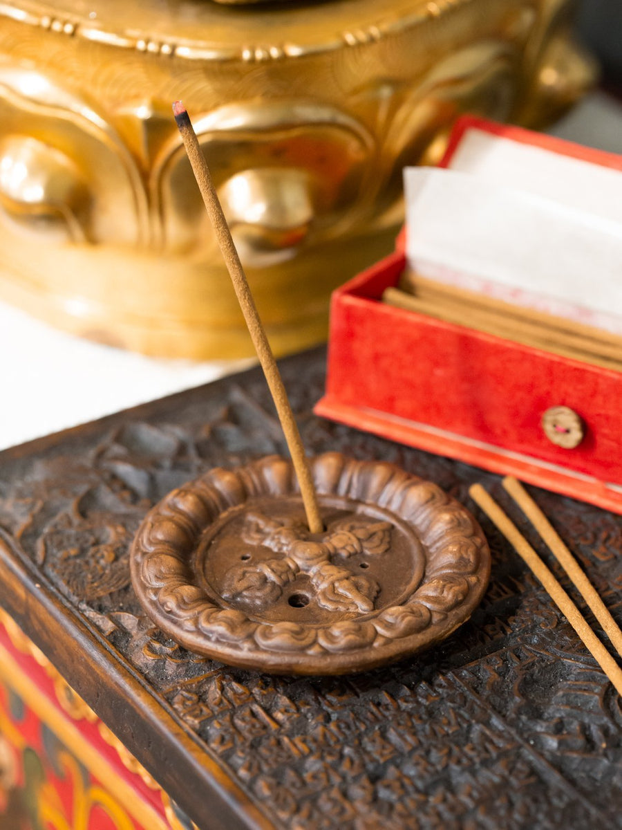 Double Dorje Incense Burner
