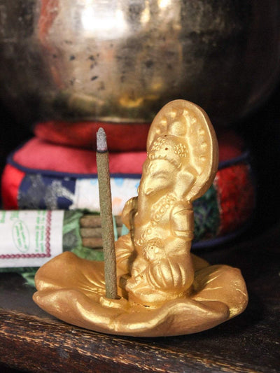 Incense Gold Ganesh Terracotta Incense Burner IZ032