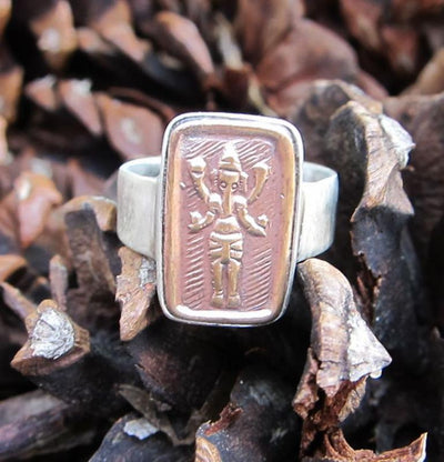 Jewelry 5 Copper Ganesh Ring JR0265
