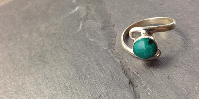 Jewelry 8 1/2 Delicate Turquoise Ring jr06608.5