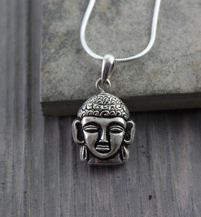 Jewelry,Buddha,Under 35 Dollars,Men's Jewelry Default Buddha Head Silver Pendant jp025