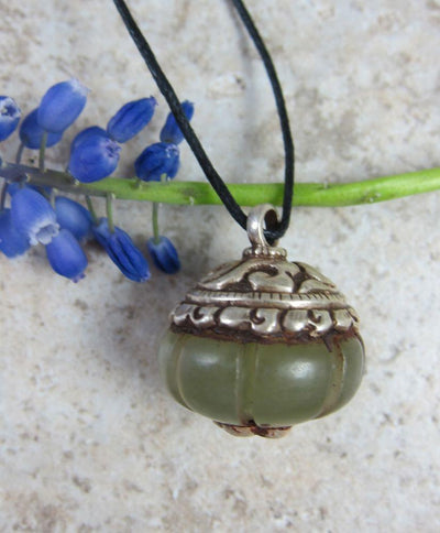 Jewelry Default Pumpkin Shaped Jade Pendant jp188