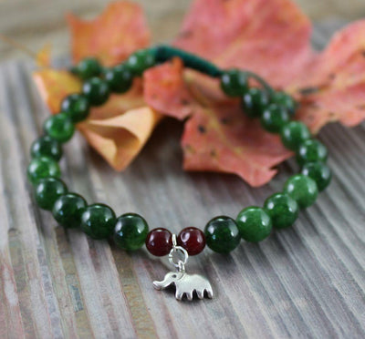 Jewelry Default Sterling Elephant Charm Wrist Mala wm154