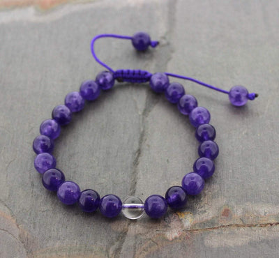 Jewelry,Gifts,Mala Beads,Tibetan Style,Mother's Day Default Amethyst Wrist Mala wm035