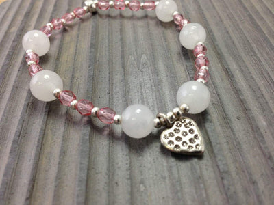 Jewelry,Gifts,Valentines Day Gift Guide Default Pretty in Pink Heart Bracelet wmchristy8