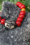 Jewelry,Mala Beads,Om,Under 35 Dollars,Men's Jewelry Default Coral Om Stone Wrist Mala wm019