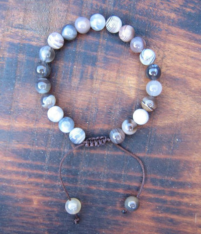 Jewelry,Mala Beads,Tibetan Style Default Striped Agate Wrist Mala wm020