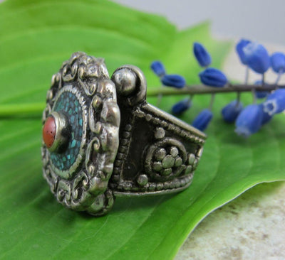 Jewelry,New Items 8 Traditional Vintage Tibetan Ring jr033-8