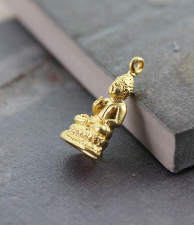 Jewelry,New Items,Buddha,The Gold Collection Default Gold Small Thai Buddha Pendant jp214