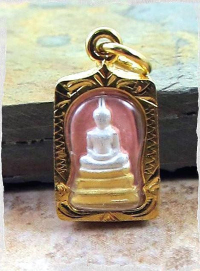 Jewelry,New Items,Buddha,The Gold Collection Default Tiny Gold Thai Amulet jp162