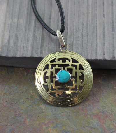 Jewelry,New Items Default Brass Manadala Pendant jp267