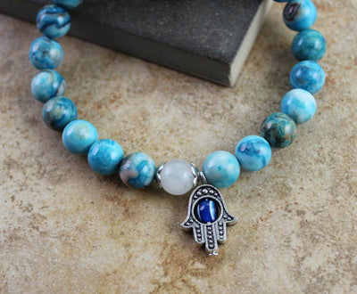 Jewelry,New Items Default Crazy Lace Hamsa Wrist Mala wm0133