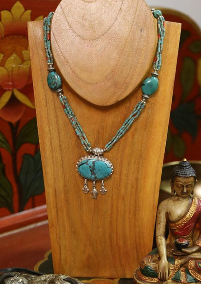 Jewelry,New Items Default handmade Vintage Tibetan Bead Necklace ttneck016