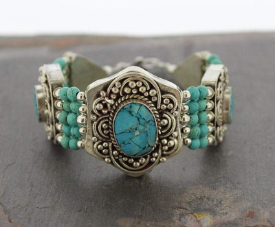 Jewelry,New Items Default Himalayan Turquoise Tibetan Bracelet jb106