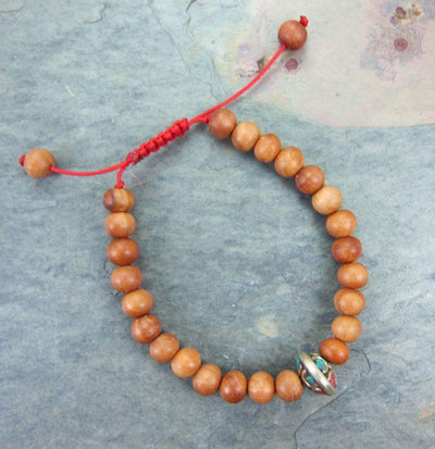 Jewelry,New Items Default Sandalwood Wrist Mala with Vintage Bead wm057