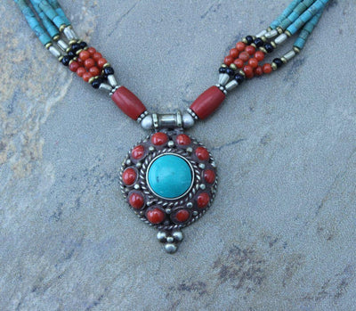 Jewelry,New Items Default Shigatse Coral necklace jn084