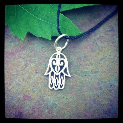 Jewelry,New Items Default Sterling Silver Hamsa Pendant jp132