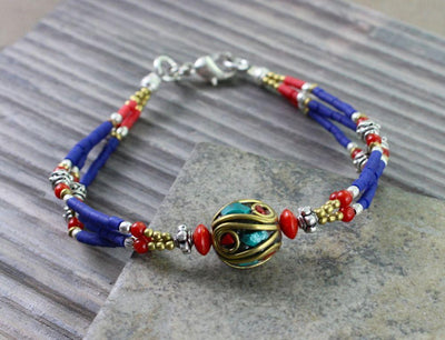 Jewelry,New Items Default Tibetan Traditional Beaded Bracelet jb011