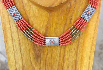 Jewelry,New Items Default Vintage Pink Coral Tibetan Necklace jn111