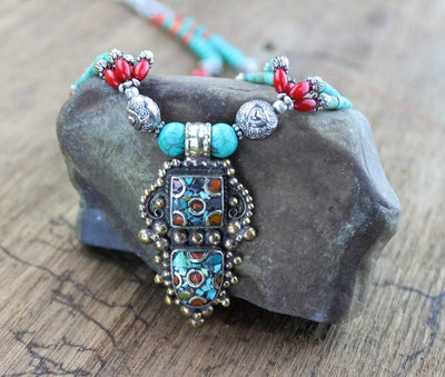 Jewelry,New Items,Gifts Default Gyantse Tibetan Necklace jn083