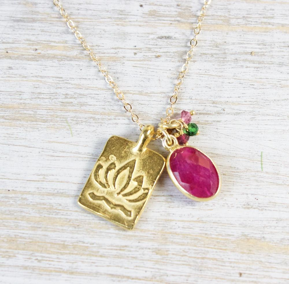 Gold Lotus Nobility Necklace