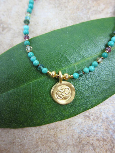 Jewelry,New Items,Gifts,Om,The Gold Collection Default Gold Om Necklace JN036
