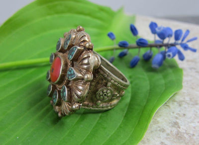 Jewelry,New Items,Gifts,Tibetan Style Default Vintage Tibetan Ring Size 8 jr034