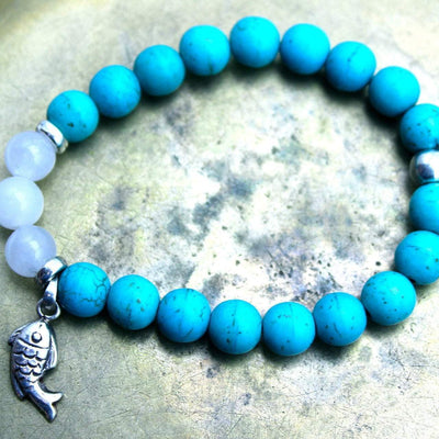 Jewelry,New Items,Gifts,Tibetan Style Default Wisdom and Fortune Stretchy Wrist Mala wm0119