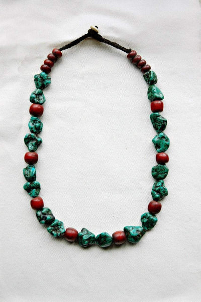 Jewelry,New Items,Mother's Day,Turquoise Default One of a Kind Turquoise Nugget Necklace jn134