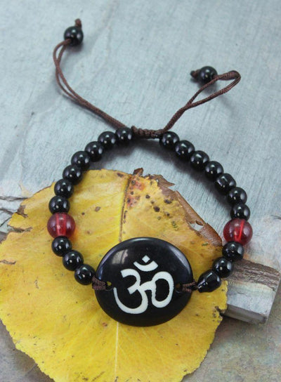 Jewelry,New Items,Om,Under 35 Dollars Default Simple Om Bone Bracelet jb093