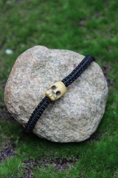 Jewelry,New Items,Skulls,Under 35 Dollars,Men's Jewelry Default Adjustable Bone Skull Bracelet jb417