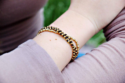 Jewelry,New Items,The Gold Collection Default Gold Bead Bracelet jb120